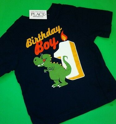 ~NEW~ 1st Birthday 1 Year Baby Boys Graphic Shirt 9-12 Months Gift! Blue Nice!