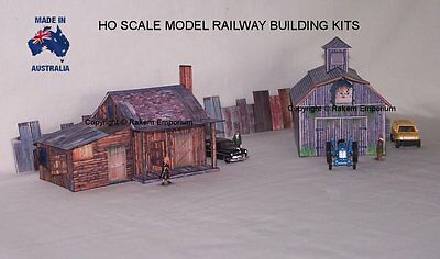 HO Scale Country Shack & Shed Barn, Model Railway Building Kit - CSS1