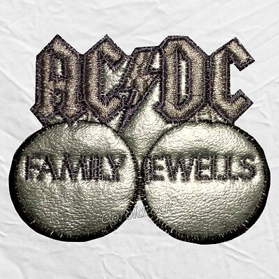 AC/DC Family Jewells Logo Embroidered Patch Album Angus Malcolm Stevie Young