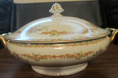 Noritake Fine China Vintage Claudia Large Serving Bowl w/ Lid Made in Japan Mint