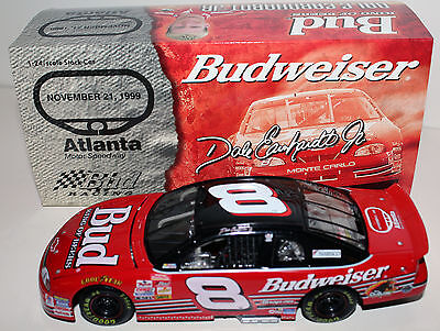 1999 Dale Earnhardt Jr #8 Budweiser Atlanta Clear Window Bank 1/24 RCCA Action
