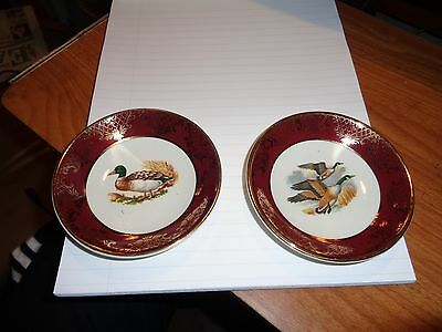 Royal Falcon Ware 3-74 & 4-74 Weatherby Hanley England Geese Flying & Mallard