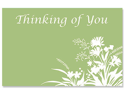 "50ct. ""Thinking of You"" Bouquet Floral Blank Florist Enclosure Cards Small Tags"