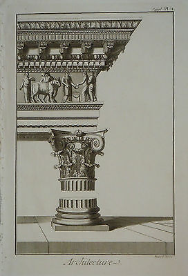 c.1779 Genuine Antique prints Architecture. Direx, Diderot