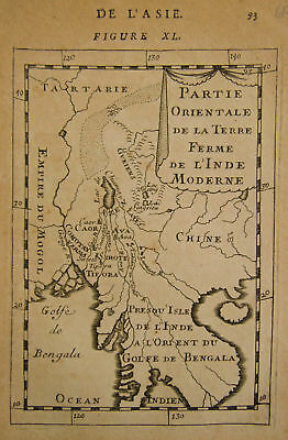 1683 Genuine Antique map of S E Asia. A M Mallet