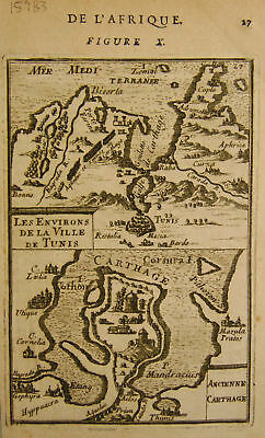 1683 Genuine Antique Map of Africa. A M Mallet