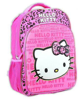 "Hello Kitty 16"" 3D Pop Up Out Girls Kids backpack Pink School bag Large NEW!!"