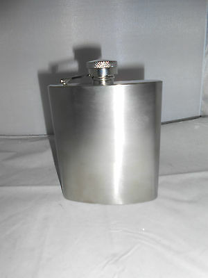 Stainless Steel 8 oz Brushed Flask Sheridan Non Tarnish