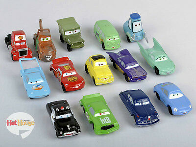 14 pcs Lot Disney Pixar Cars Lightning McQueen Mater Sally Ramone Guido Car Gift