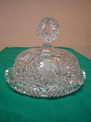 Lead Crystal Cheese/Butter dish, Hofbauer or Echt Bleikristall Byrde