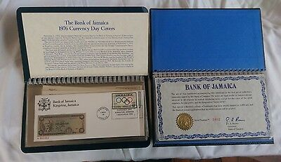 1976 BANK OF JAMAICA STAR BANKNOTES & CURRENCY DAY COVER STAMP SET