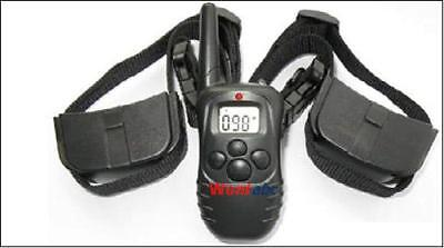 LCD 100LV SHOCK VIBRA REMOTE TRAINING COLLAR for 2 DOGS