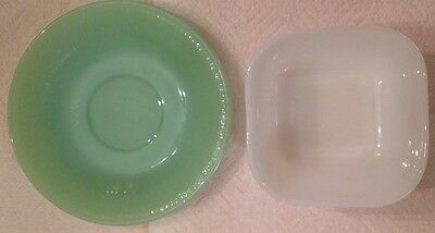 FIRE KING VINTAGE KITCHENWARE  - JADITE AND MILK GLASS