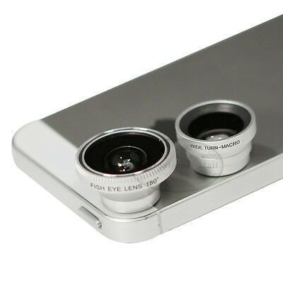 3 in 1 Fish Eye lens + Wide Angle + Macro Lens for Cell phone Smart phone Camera