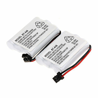 2x Cordless Home Phone 800mAh Ni-MH Battery Pack for Uniden BT-446 BT446 ER-P512