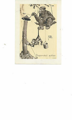 Vintage NOV1937 3M LAWSON WOOD MONKEY ART SUSPENDED ACTION ADS RARE 017/018