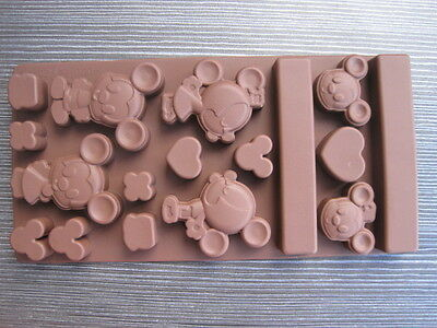 New Lovely Mouse Candy Chocolate Ice Cube Cake Mold Mould Silicone Baking Tools