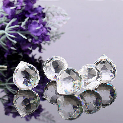 20Mm Hanging Clear Crystal Chandelier Ball Sun Catchers Rainbow Prisms Feng Shui