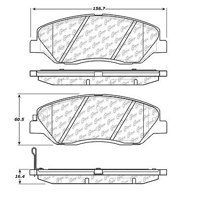 Disc Brake Pad-Posi-Quiet Extended Wear w/Shims & HrdWr Front Centric 106.12020