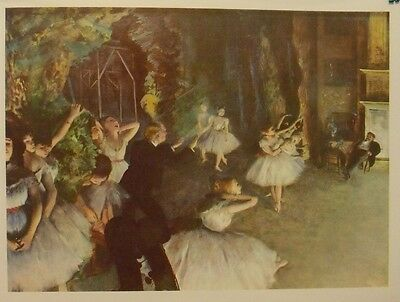 Edgar Degas -The Rehearsal of the Ballet on Stage - Vintage 70s lithograph print