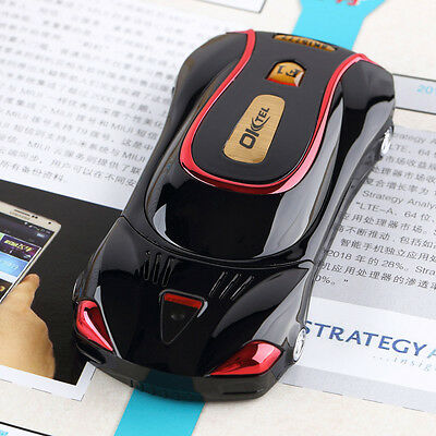 Black Unlocked F1 sport car gift cellphone Dual SIM Quad BAND MP3 Factory outlet