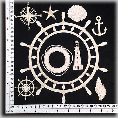 Chipboard Embellishments for Scrapbooking, Cardmaking - Nautical Designs 34059
