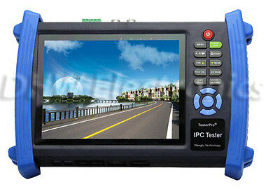 "IPC-8600 7""Touch screen HD resolution ONVIF IP CAMERA DISPLAY Monitor PTZ TESTER"