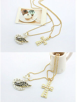 Fashion Necklace For Girl Lady's Women Lovely Swan and Crosses Style
