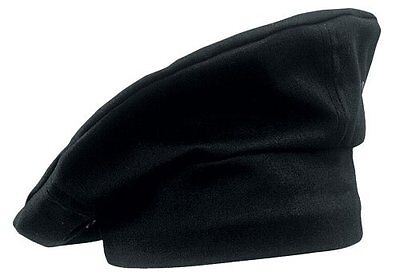 Chef Works TOCP-BLK Chef Toque, Black , New, Free Shipping