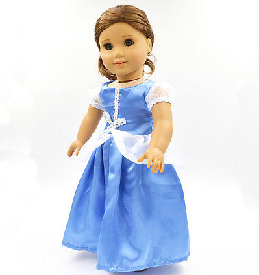 "2015 For American Girl Hot Handmade Long European noble dress 18""Doll Clothes106"