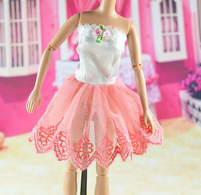 lovely New Handmade Party Clothes Fashion Dress for Noble Barbie Doll   **bab99