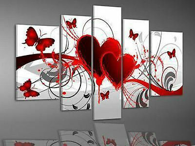 NEW MODERN ABSTRACT HUGE WALL ART OIL PAINTING ON CANVAS 5PC(no Frame)