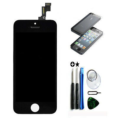 New LCD Lens Touch Screen Display Glass Assembly Replacement for iPhone 5S Black