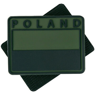 2X Helikon Subdued Rubber Poland Emblem Patch Tactical Morale Flag Olive Green