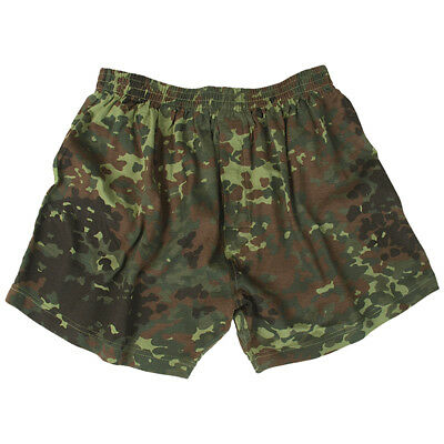 US Military Style Mens Army Boxer Shorts Underwear German Flecktarn Camo S-3XL
