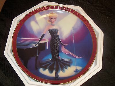 Barbie Collector Plates Set of 2 High Fashion Barbie By Danbury Mint, New In Box
