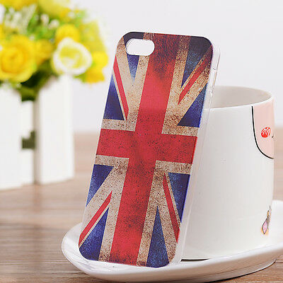 1Pcs Free shipping NEW Retro Fashion UK Flag Hard Case Cover for iPhone 5 5SC