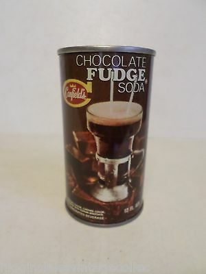 Vintage Canfield's Chocolate Fudge Soda Straight Steel Soda Pop Can