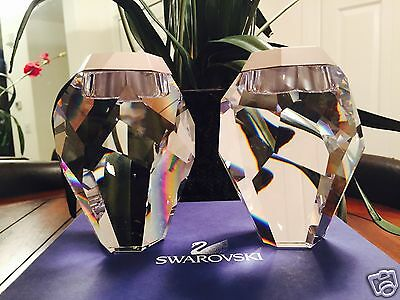Stunning!!! (Set of 2) SWAROVSKI SILEX CANDLE HOLDERS # 892543 - NIB