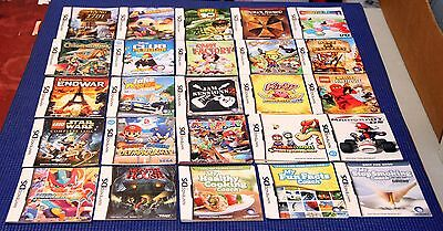 Nintendo DS & 3DS GAME USER MANUALS - A to Z