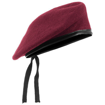 eea61bff40959 Army Tactical Classic Beret Military Style Mens Hat Unisex Cap Wool Claret  Red
