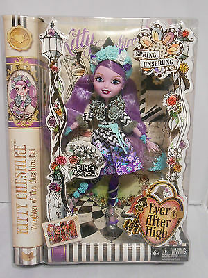 "~2015 Ever After High ~ KITTY CHESHIRE 10"" Doll NIP NEW Spring UnSprung"