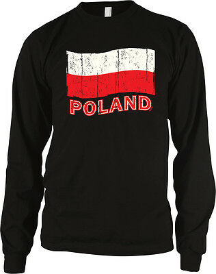 5b2e62a5436 Poland Flag Distressed Pride Polish Red White Colors National Team Men s  Thermal