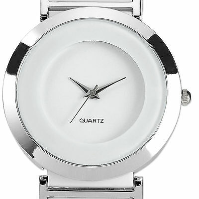 U.S.A Classic White Alloy Case Quartz Analog Girl Lady Women Watch