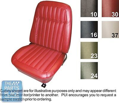 1969 Camaro Deluxe Black Front Buckets Seat Covers  - PUI