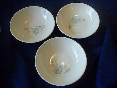 Taylor Smith & Taylor Boutonniere Ever Yours Blue Flower 3 Dessert - Sauce Bowls