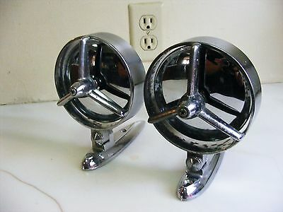 """VINTAGE YANKEE TRI-BAR CAR MIRRORS """"RARE"""" CHEVY FORD PLYMOUTH OLDSMOBILE 1950s"""