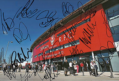 St Helens 2015 Squad Signed Langtree Park Stadium Photo 17 Players 2.