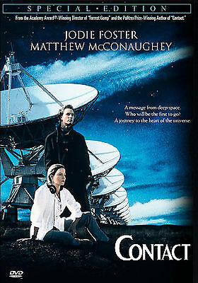 CONTACT Jodie Foster, Matthew McConaughey DVD *NO COVER ART/NO INSERTS