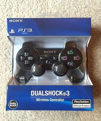 Brand New PlayStation 3 Dualshock 3 Wireless Controller (Black) - Free Shipping!